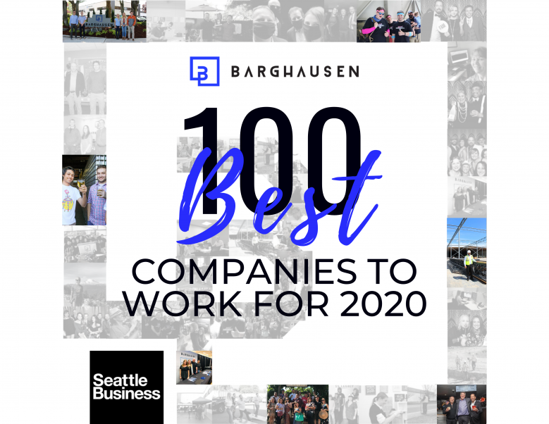 Image for post Barghausen Named One of Washington's Best Companies to Work For!